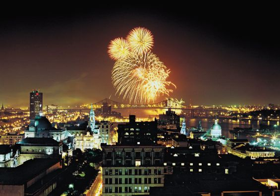 Montreal's fireworks competition held every summer. Photo credit to vacationsandtravelmag.com.