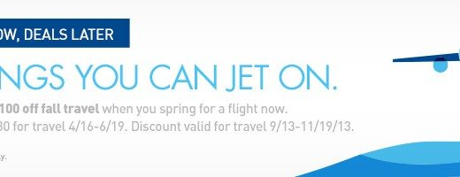 JetBlue Deals Now, Deals Later