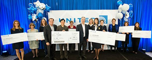 Winners of the United's Outperform Recognition Program award ceremony for the 2012 nomination period.  Photo credit and details from: https://hub.united.com/en-us/News/Loyalty-Program/Pages/united-celebrates-outperform-winners.aspx