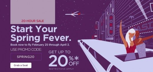 Virgin America 20hrsale