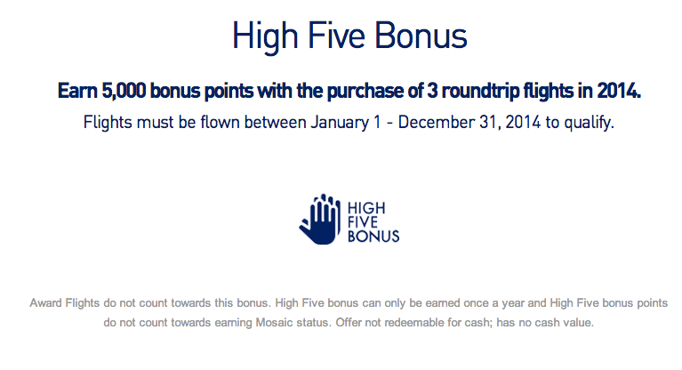 JetBlue High Five Bonus