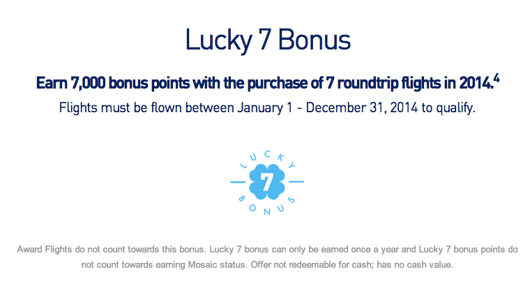 JetBlue Lucky 7 Bonus